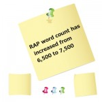 RAP word count has increased to 7,500 and what this means for you